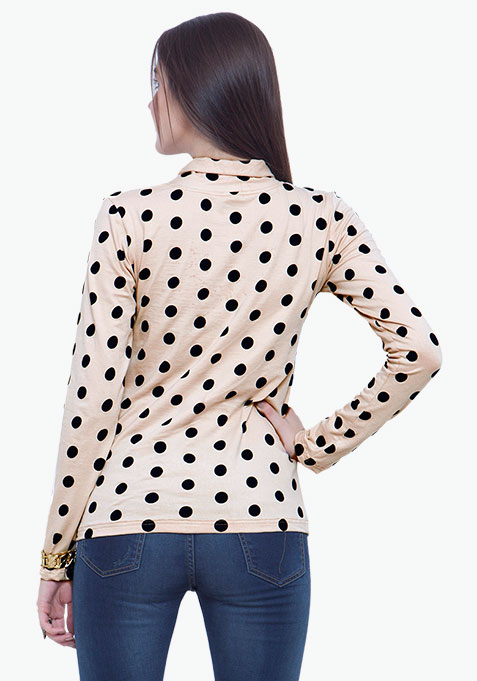 Turtle Neck Tee - Polka