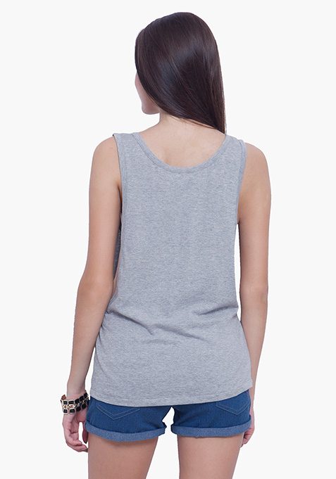 Edge Out Tank - Grey