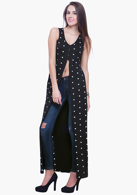 Maxi Tunic Top - Polka