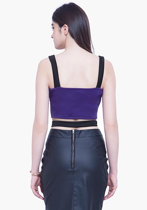 Sassy Bralet Crop Top - Purple