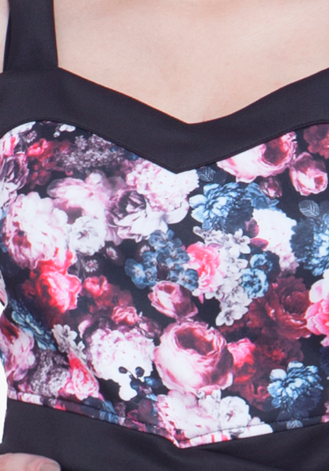 Sassy Bralet Crop Top - Floral