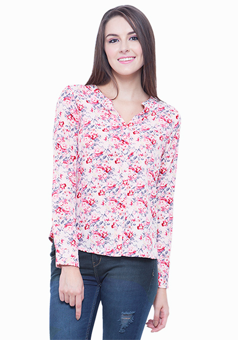 Pink Bliss Floral Shirt