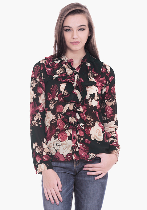 Ruffled Shirt - Dusk Floral