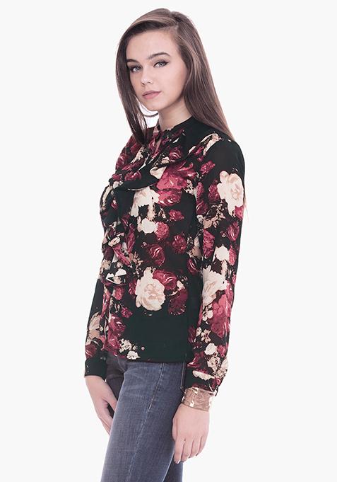 Ruffled Shirt - Dusk Floral