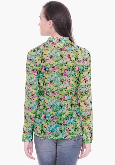 Sheer Sight Wild Flower Shirt