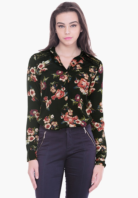 Lace Coven Shirt - Floral