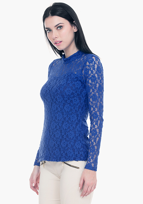 Totally Laced Top - Blue