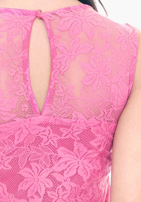 Daisy Daze Lace Top - Pink