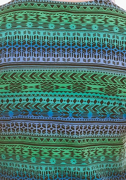 Tie Down Tee - Green Aztec