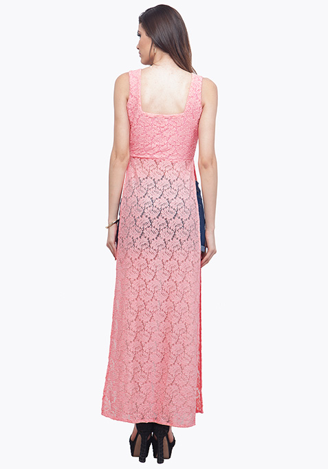 Light Pink Lace Maxi Top