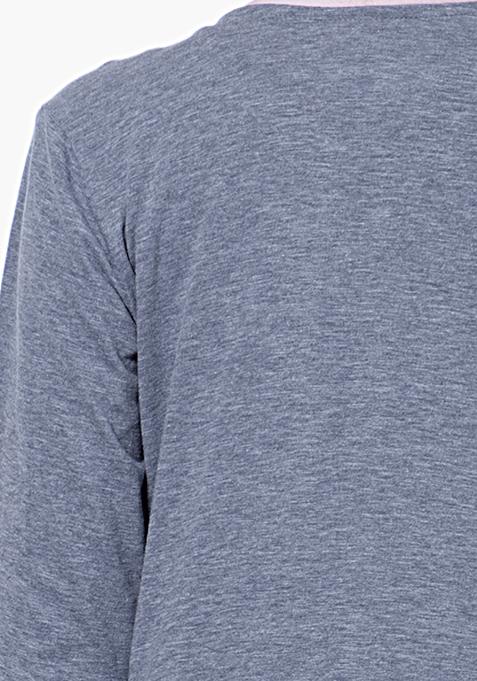 BASICS Slub Drape Shrug - Grey
