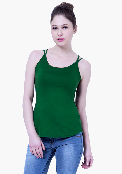 BASICS Cowl Back Cami - Green