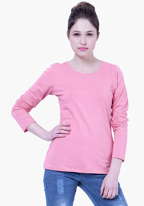 BASICS Pink  Perf Jersey Tee