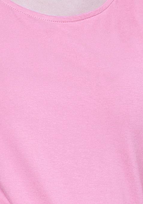 BASICS Pink  Perf Jersey Tee