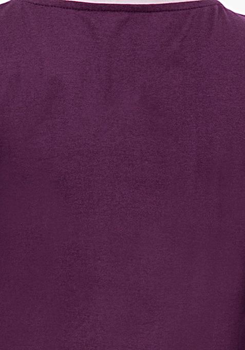 BASICS Purple Jersey Tee