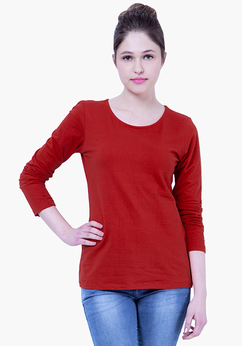 BASICS Red Rave Jersey Tee