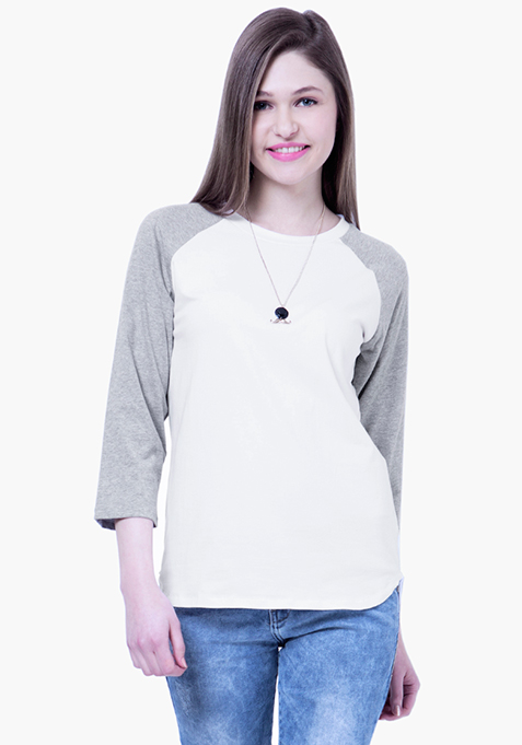 BASICS White Baseball Tee