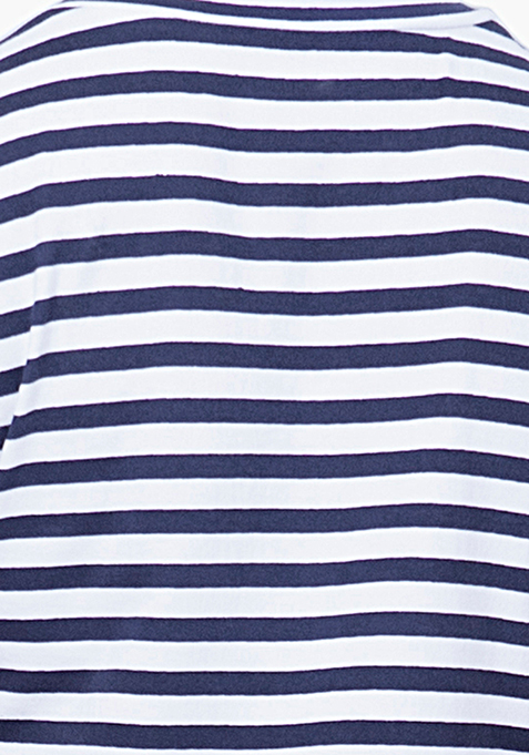 BASICS Cool Chick Striped Tee - Navy