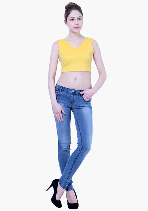 BASICS Scuba Crop Top - Yellow