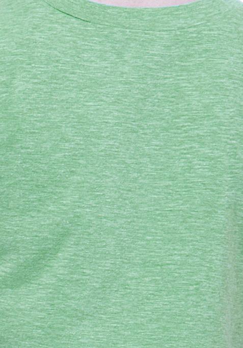 BASICS Green Boxy Crop Top