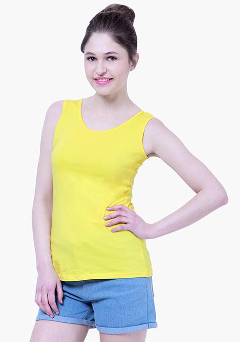 BASICS Tank Top - Lemon