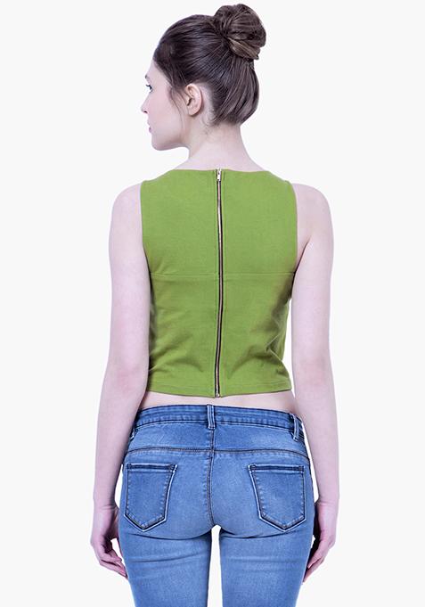 BASICS Crop Top - Green