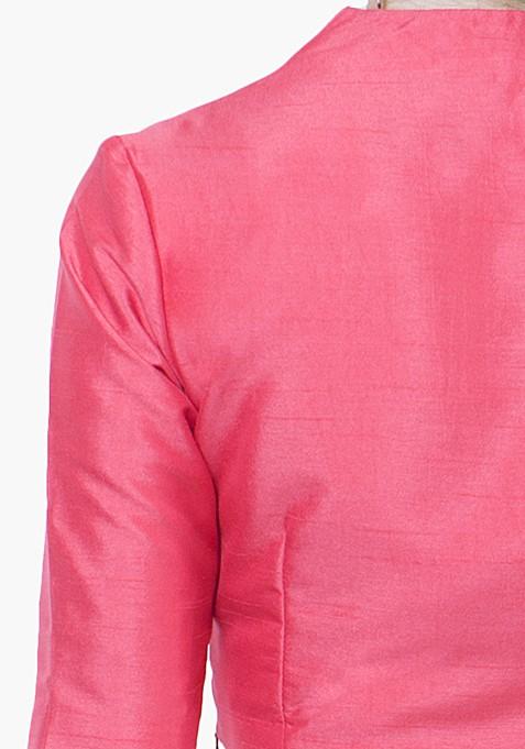 Dusk Pink Silk Crop Top