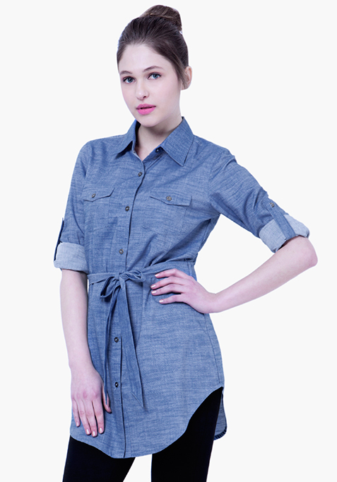 BASICS Chambray Shirt - Light