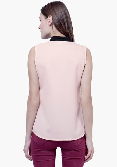 Lace Splash Shirt - Blush