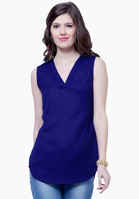 Summer Cool Shift Top - Blue