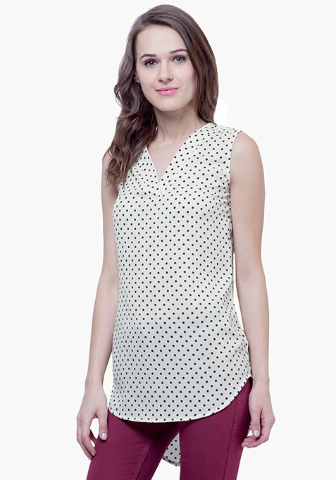 Summer Cool Shift Top - Polka