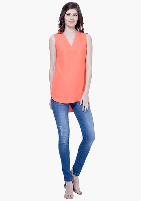 Summer Cool Shift Top - Coral