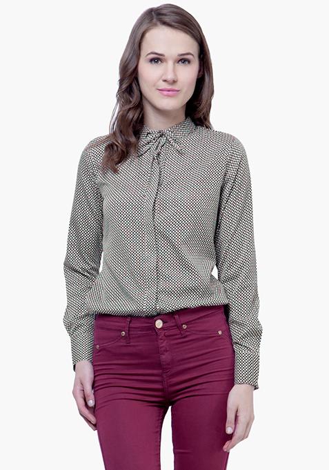 Skinny Knot Shirt - Geometric