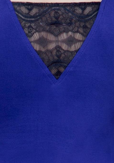 Lace Wonder Tank Top - Blue