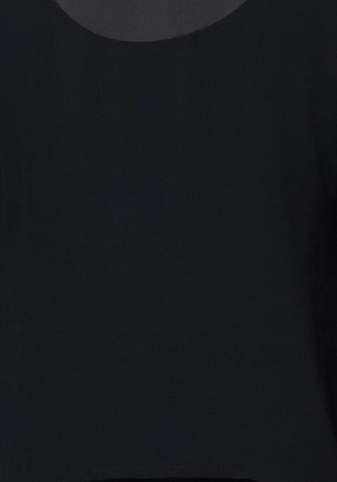 Sheer Overlay Top - Black