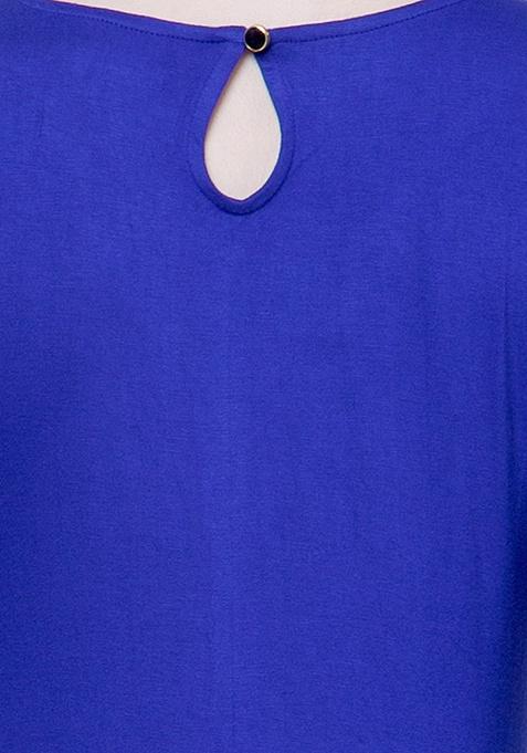 Sheer Sass Maxi Top - Blue