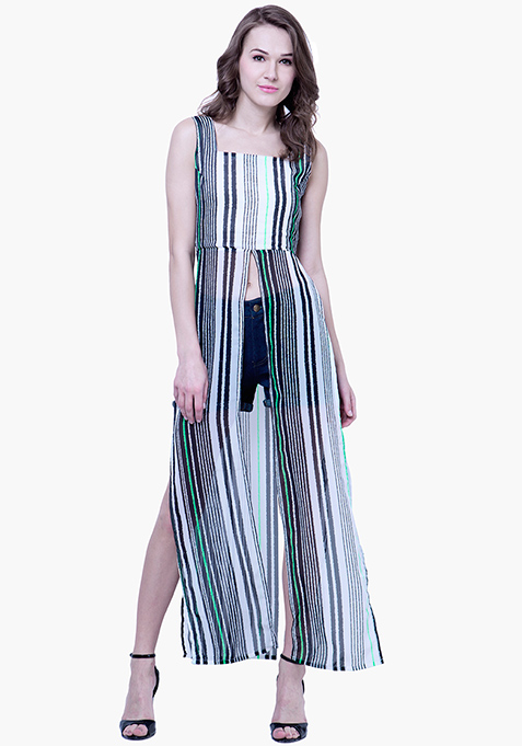Striped Maxi Top - Multi