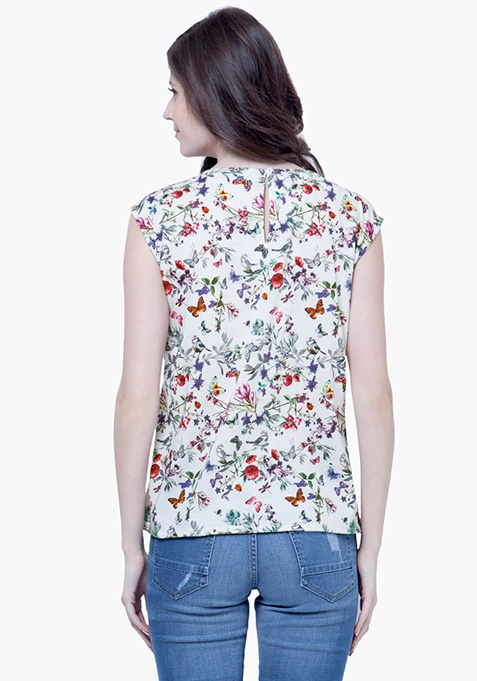 Butterfly Bloom Rayon Blouse