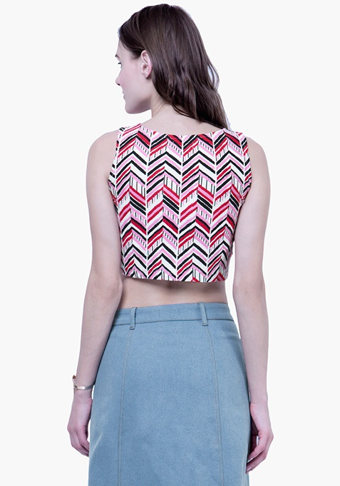 Chevron Craze Crop Top