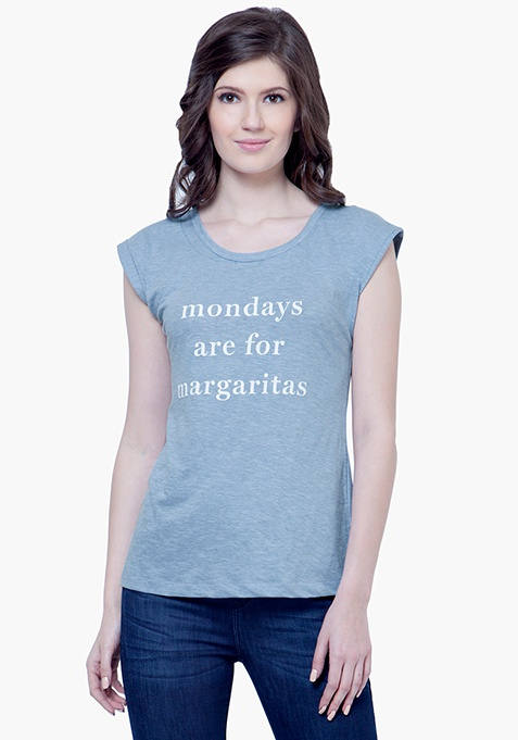 Monday Margarita Tee - Blue