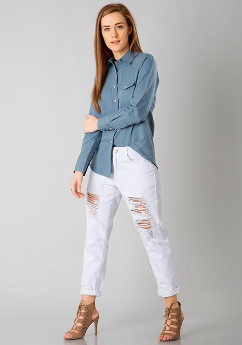 Denim On Fleek Shirt - Light