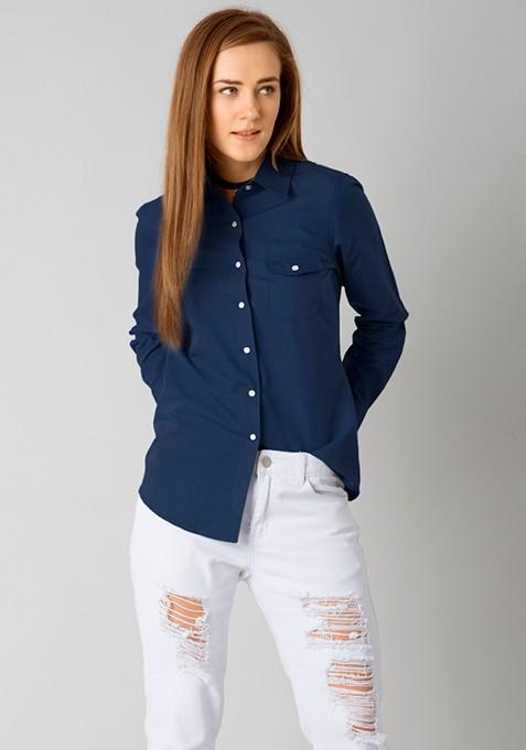 Denim On Fleek Shirt - Dark