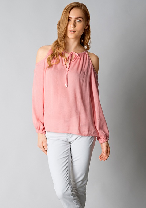 Shoulder Smoulder Top - Peach