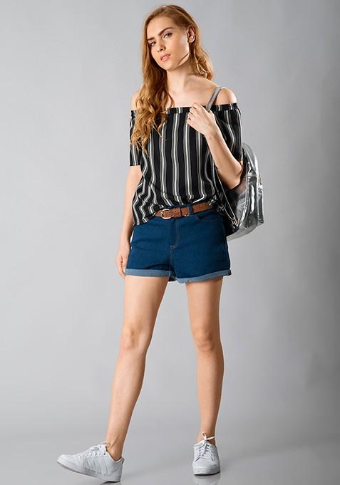 Bardot Bish Top - Black Stripes