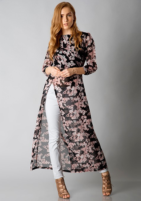 Sassy Side Maxi Top - Floral