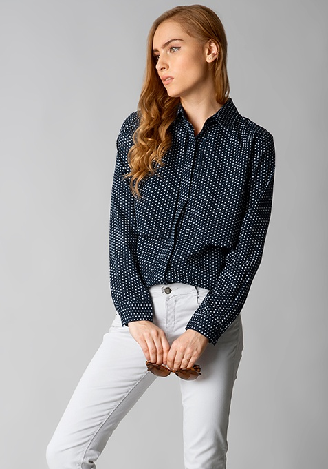 Polka Layered Shirt