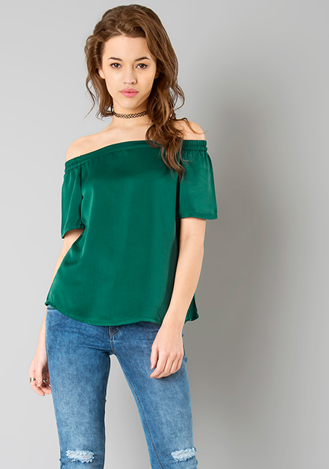 Bardot Bish Top - Green
