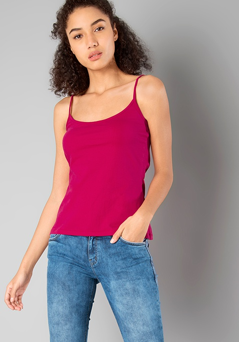 BASICS Cami - Hot Pink