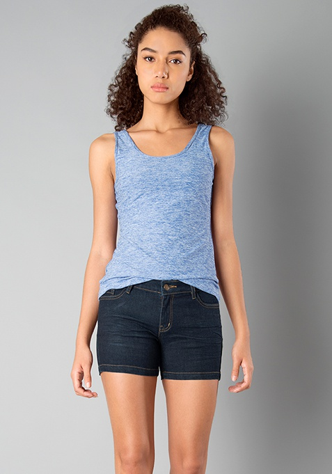 BASICS Jersey Tank Top - Blue
