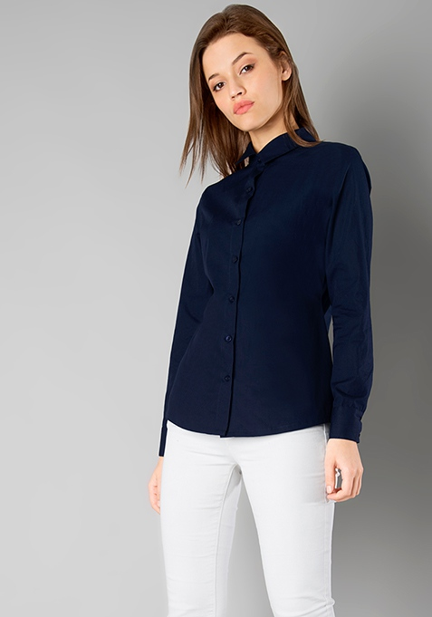 CLASSICS Slim Fit Shirt - Navy
